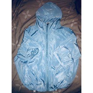 Jackets & Blazers - Baby blue lightweight windbreaker